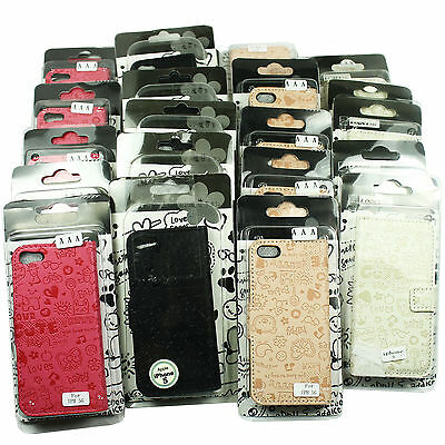 Wholesale iphone 5 5s Case PU Leather - Assorted Colors 25 PC Lot