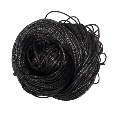 80m Waxed Cotton Cord Bundle 1.5mm for Jewelry Making String Thread Black