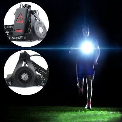 Flashing LED Glow Safety Chest Clip Light Night Sports Running Jogging Cycling