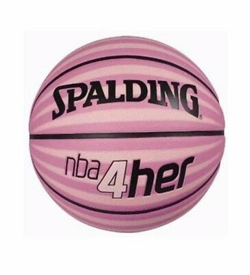 NEW! SPALDING BASKETBALL NBA 4HER FOR HER Outdoor Ball Size 6 Pink