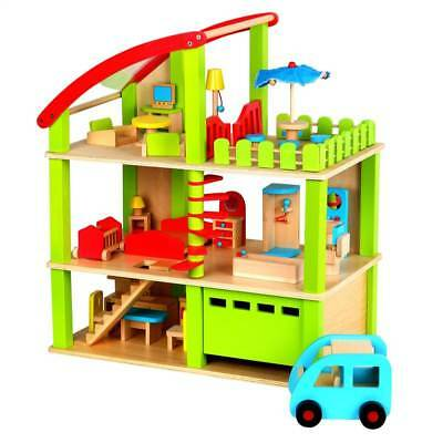 Lelin Wooden Wood Doll Furniture Summer House Childrens Kids Pretend Play Home