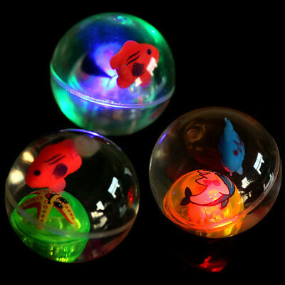 1 Pcs Colorful Bouncy Ball Child Elastic Rubber LED Light Children Kid Fun Toys