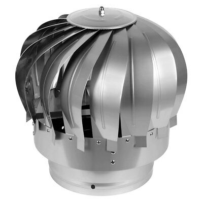 S.S  MAD Spinner Cowl Chimney Rotating Roof Flue Anti Down Draught