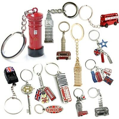 British Uk England London Keychain Keyrings Souvenir Gift Collectables