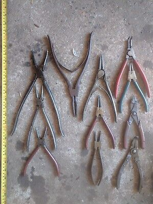 11x collectible hand tools various circlips pliers. KNIPEX, GEDORE, SIDCHROME