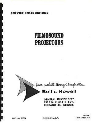 Bell & Howell Filmosound 185 285 385 179 Projector Service & Repair Manual