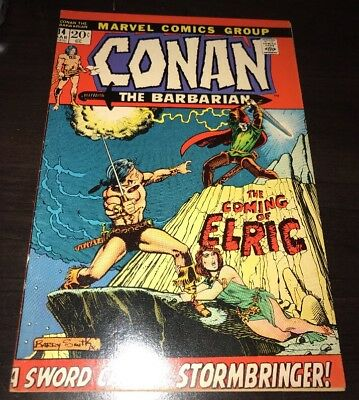 Conan The Barbarian #14 1st Elric Melnibone Marvel Bronze Age KEY Comic Smith