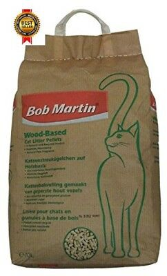 Bob Martin Wood Based Cat Litter Pellets 10 Liter Natural Recycled Product NEW