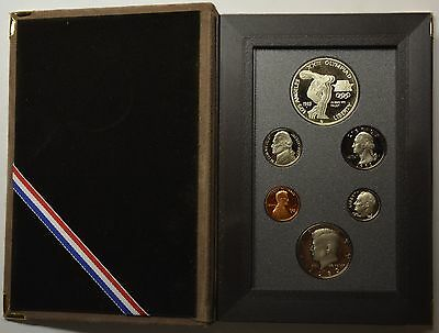 GN803 - USA Olympia Silver Dollar Proof Prestige Set 1983 S Kursmünzensatz RAR