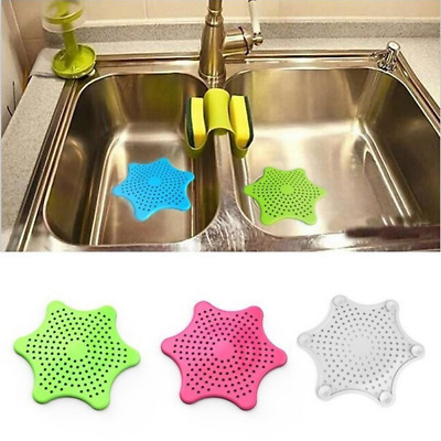 Useful Raised centre Star shaped Silicone Drain/Sink/Bath/Shower Stopper Filter