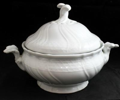 Hutschenreuther DRESDEN ALL WHITE Tureen w/Lid GREAT CONDITION