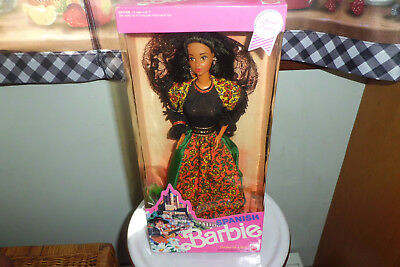 Vintage 1991 Spanish Barbie Doll Of The World Collection Limited Edition New In