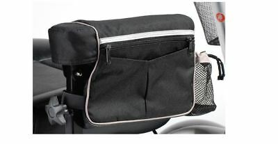 Armest Bag Accessory for Mobility Scooters, Wheelchairs, Mesh Drink Holder
