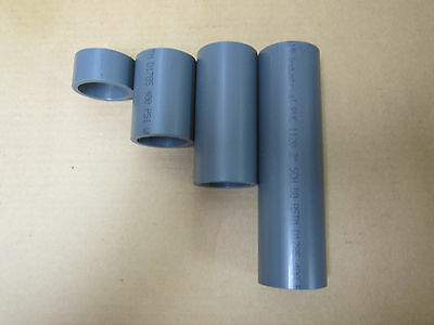 "2"" Schedule 80 Pvc Heavy Wall Gray Pipe Short Remnants 4 Piece Lot"