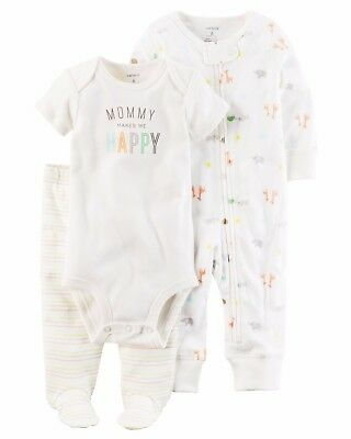 NEW NWT Carter's Boys or Girls Neutral 3 Piece Layette Set 3 or 9 Months