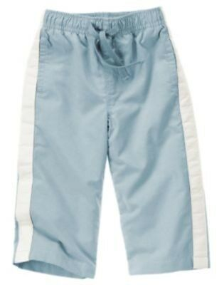NWT 6-12 Months Gymboree SPY GUYS ACTIVE Light Blue Mesh Lined Athletic Pants