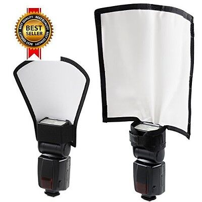 Flash Reflector Diffuser Kit, Bend Bounce Positionable Diffuser Silver/White NEW