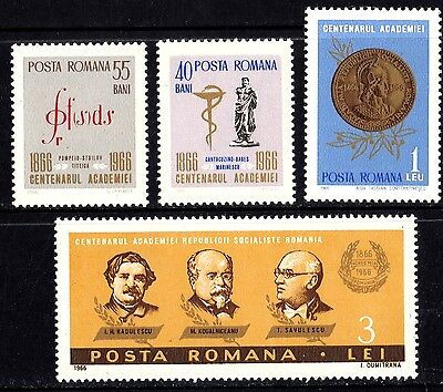 Romania 1966 Academy of Science Complete Set of Stamps MNH