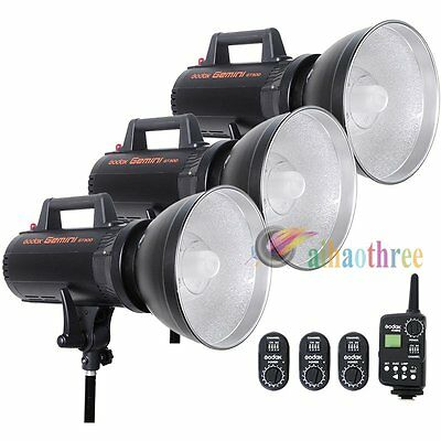 3Pcs GODOX GT-300 3x300W High Speed Studio Strobe Flash Bowens Mount + Trigger