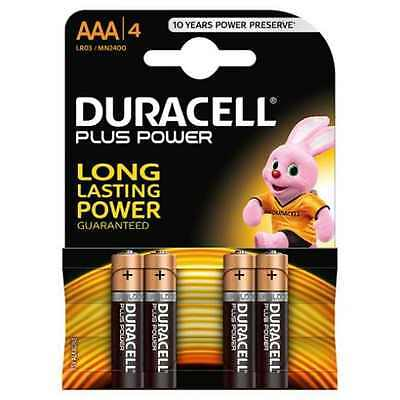 NEW Duracell Basic AAA Alkaline Battery 4 PIC Pack FAST SHIPING