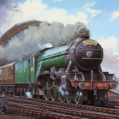 FLYING SCOTSMAN steam engine  greeting card with sound, National Railway Museum