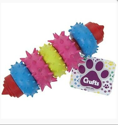 Crufts Dental Dog Teether Chew Toy, Puppy, Pets, Home, Family, Animal, UK SELLER