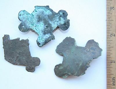 Group Of Ancient Old Bronze Brooch. Viking Age. (AGN10)
