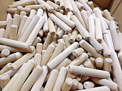 1000 Hardwood 10mm x 60mm Multi-Grooved Wood Dowel Pins