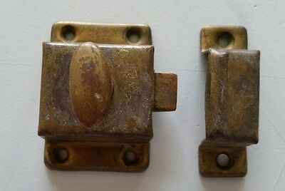 Vintage Old Metal Cabinet Cupboard Latch With Catch  (367)