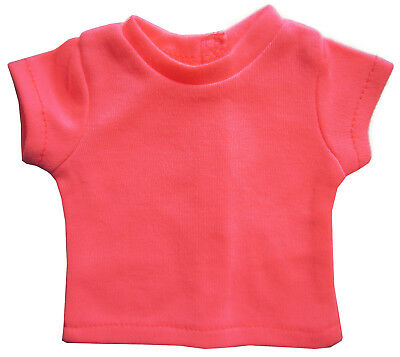 """Coral Colored Shirt Top T-Shirt for 18"""" American Girl Doll Clothes"""