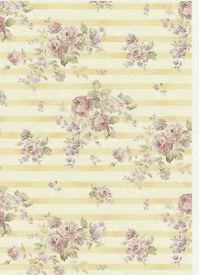 Rice Paper for Decoupage Scrapbook Craft Sheet Vintage Roses Background