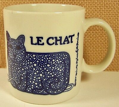Vintage 1978 Taylor & Ng Coffee Mug Le Chat Cat W/ball Of Yarn