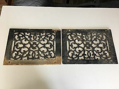 Pair of Antique Cast Iron Registers