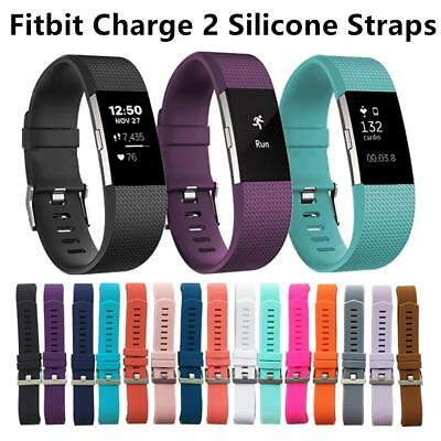 Fitbit Charge 2 Replacement Colour Band Secure Strap *UK* Wristband Metal