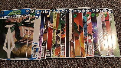 Green Arrow Rebirth 1-16 plus one-shot and variants 25 issues total!!!