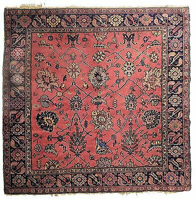 "Antique Turkish carpet. 5'9""x 6'7"""