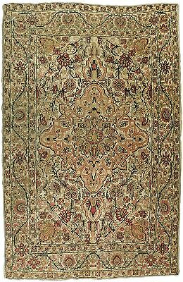 "Antique Persian Kerman Lavar rug. 4'4""x 6'8"""