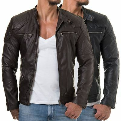 Men Leather Jacket Motorcycle Jacket Slim fit Biker genuine lambskin jacket