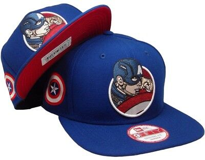 c7020a06e8ad9 CAPTAIN AMERICA New Era Marvel Civil War RetroFlect 9FIFTY Unisex Snapback  Hat