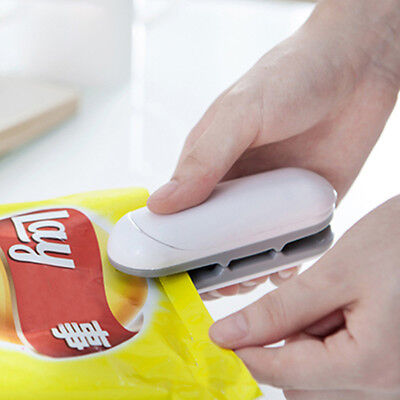 New White Portable Sealing Tool Heat Mini Handheld Plastic Bag Impluse Sealer
