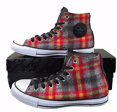 46cb960a23fe Converse by Woolrich Chuck Taylor All Star Sneakers Red Yellow Plaid Wool  149456