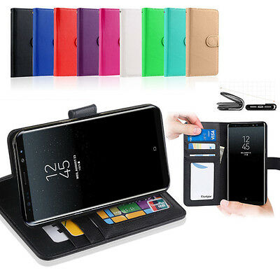 New Premium Wallet Flip Leather Case Cover - Samsung Galaxy Note 8