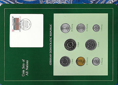 Coin sets of all nations East Germany UNC All 1979 but 1, 2 Marks 1980