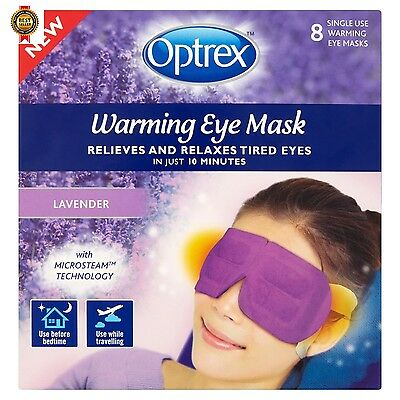 Optrex Warming Eye Mask, Lavender, Pack of 8 NEW