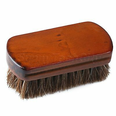 Professional Wooden Handle Shoes Shine Polish Bristle Horse Hair Buffing Brush