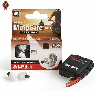 Alpine MotoSafe Tour - Motorcycle Earplugs Prevents hearing damage NEW