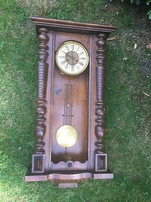 Vienna Wall Clock Working Order Case Needs Tidying