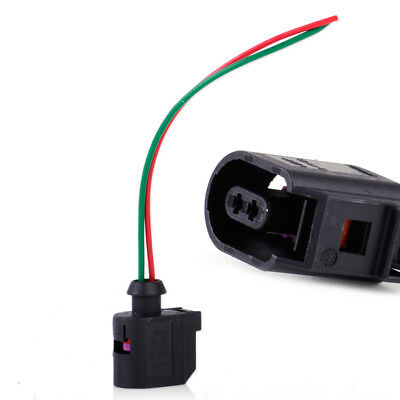 2 Pin ABS Sensor Wiring Pigtail Plug Connector Fit For VW Passat Golf Jetta Audi