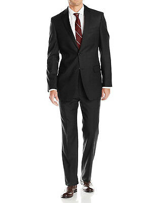 Luciano Natazzi Mens Two Button Pinstripe Modern Fit Suit 2 Piece Jacket Pant