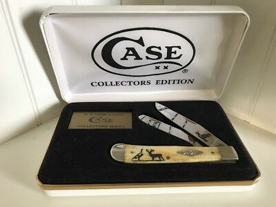 "Case Knife 6254 "" In The Spring We Strut In The Fall We Rut"" Collectors Series"